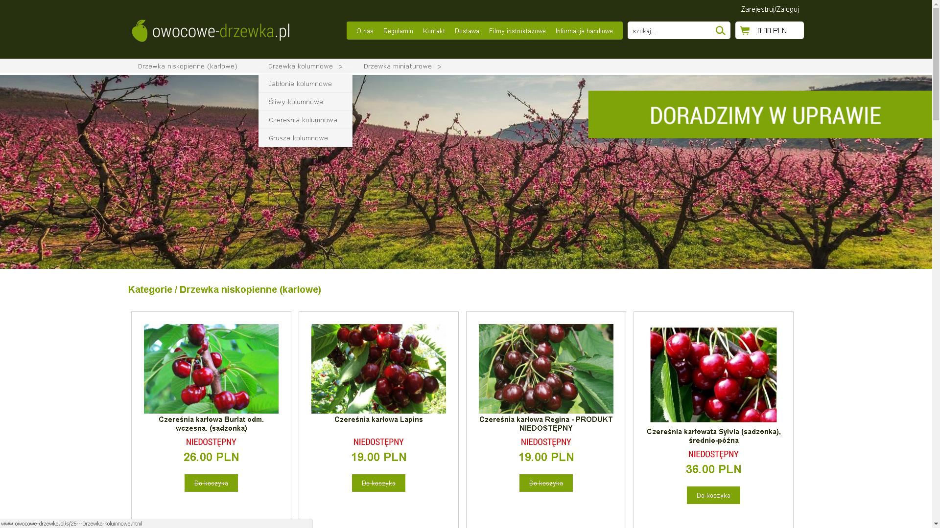 Realizacja www.owocowe-drzewka.pl