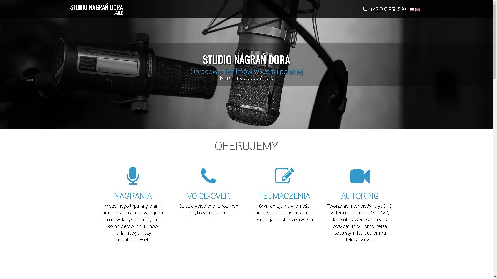Realizacja www.doranagrania.pl