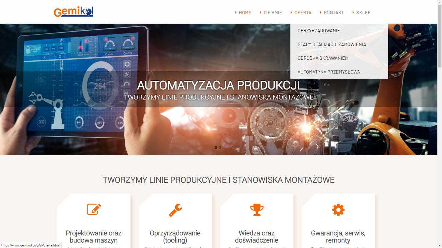 Realizacja www.gemikol.pl